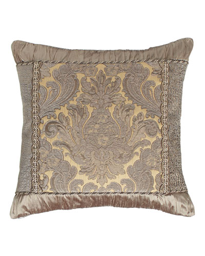 Winter Twilight Damask-Center Pillow, 19