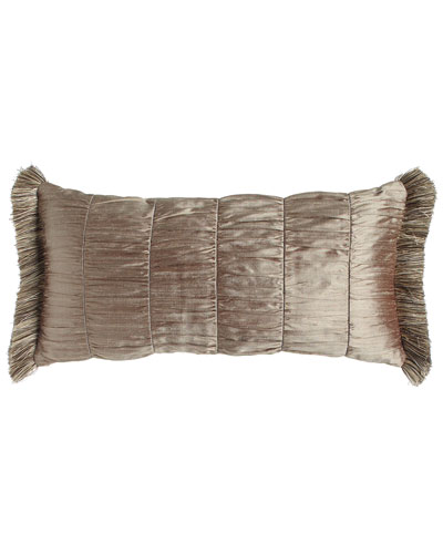 Winter Twilight Ruched Silk Pillow, 12