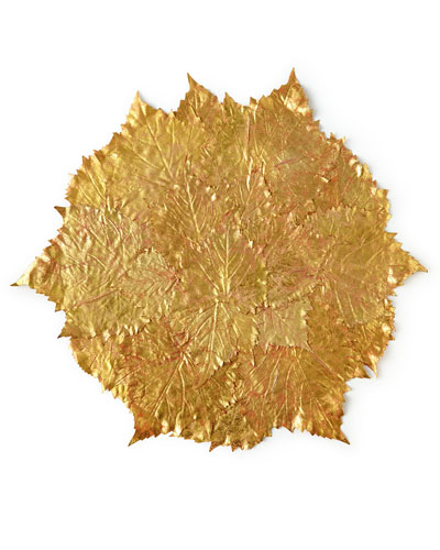 Golden Grape Leaf Placemat