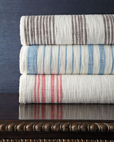 Queen Striped Coverlet