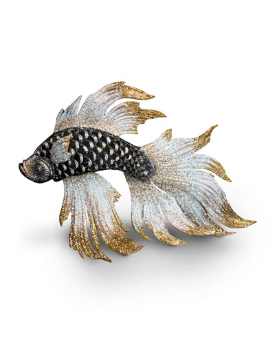 20th Anniversary Limited Edition Iridescent Fighting Fish Figurine