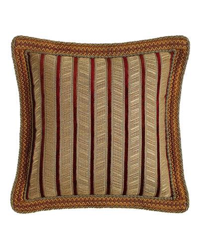 Velvet-Stripe Pillow, 20