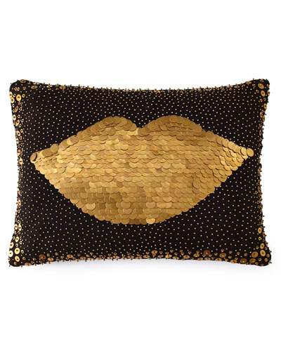 Throw Pillows Neutral : Black Decorative Pillow Neiman Marcus