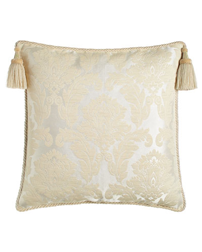 European Capello Damask Sham with Tassels