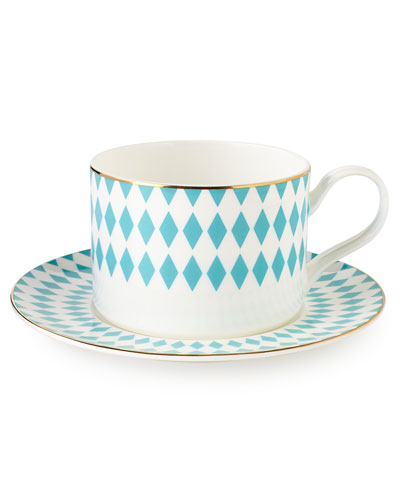 Hutton Teacups & Saucers, Set of 4