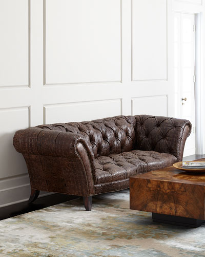Fritz Tufted-Leather Sofa