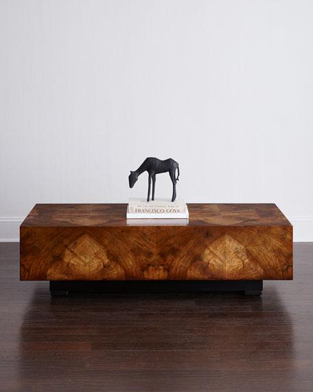 John-Richard Collection Chelsea Walnut-Burl Coffee Table