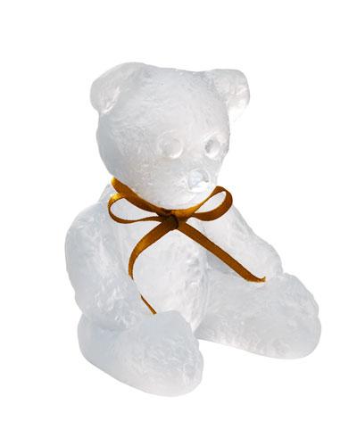 White Teddy Bear Sculpture