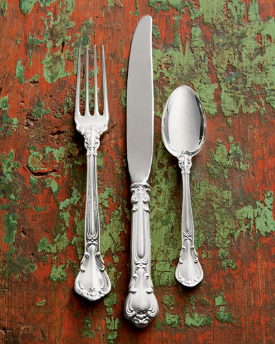 46-Piece Chantilly Sterling Silver Flatware Service