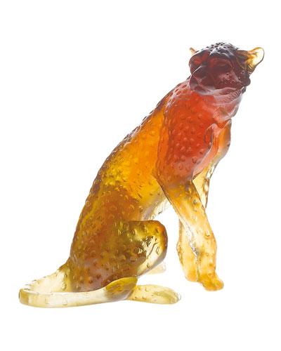 Amber Cheetah Sculpture