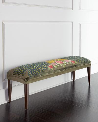 Long Peacock Bench