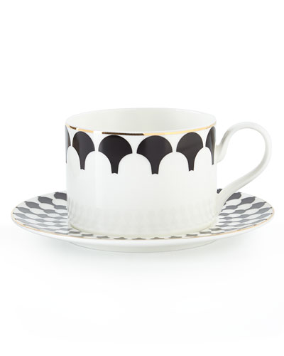 Grande Zelda Cups and Saucers, Set of 4