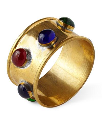 Jewel Napkin Rings, Set of 4
