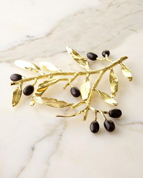 Michael Aram Olive Branch Gold Trivet