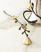 Gold Orchid Candle Snuffer