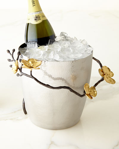 Gold Orchid Champagne Bucket