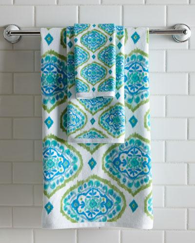 Tangiers Ikat Print Bath Towel