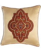 "Grantham Applique Pillow, 16""Sq."
