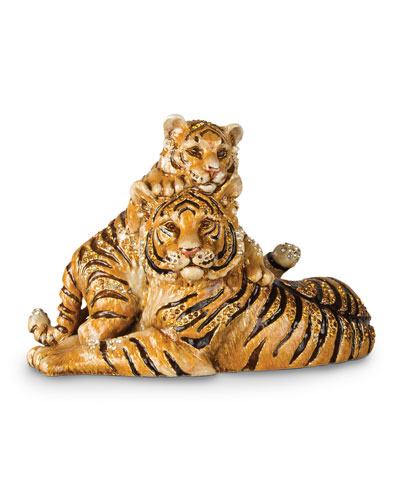 Mother & Baby Tiger Figurine