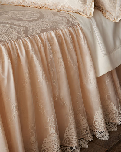 Queen Cameo Skirted Coverlet