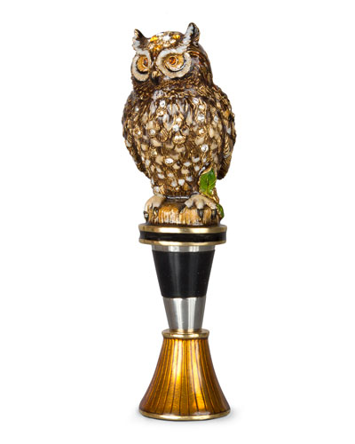 Owl Wine Stopper with Stand