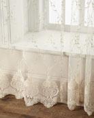 "60""W x 96""L Cameo Lace Curtain"