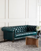"""Davidson 94"""" Tufted Seat Chesterfield Sofa"""