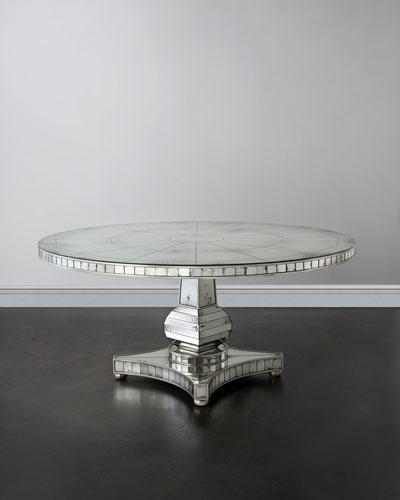 Tonya Mirrored Dining Table