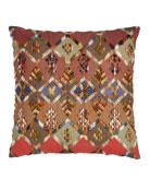 "Anatolia Embroidered Kenya Pillow, 20""Sq."