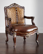 Dani Hairhide Leather Bergere Chair