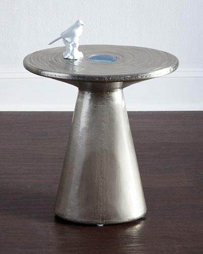 Zoe Nickel Side Table