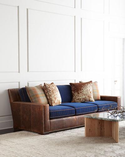 Darlene Leather Sofa 101