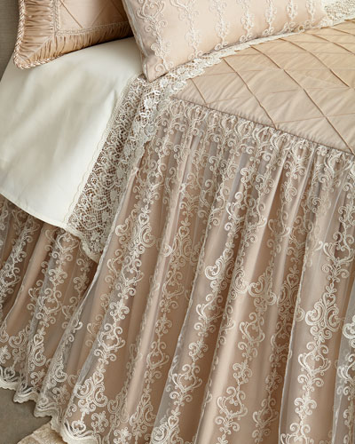 King Elizabeth Skirted Coverlet