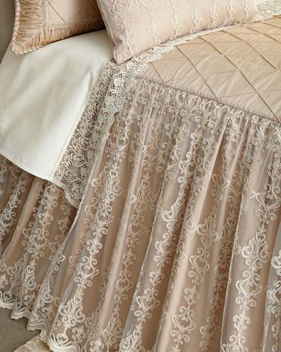 Queen Elizabeth Skirted Coverlet