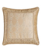 """Elizabeth Lace Pillow with Ruched Border, 19""""Sq."""