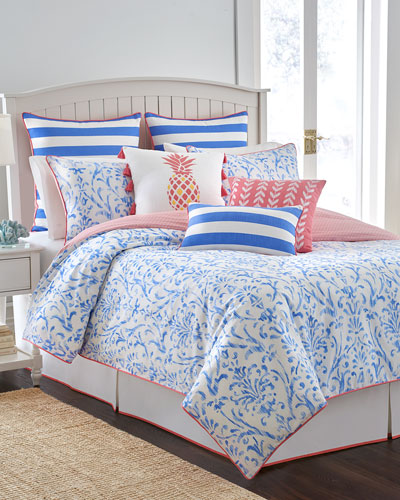 King Coastal Ikat 3-Piece Comforter Set