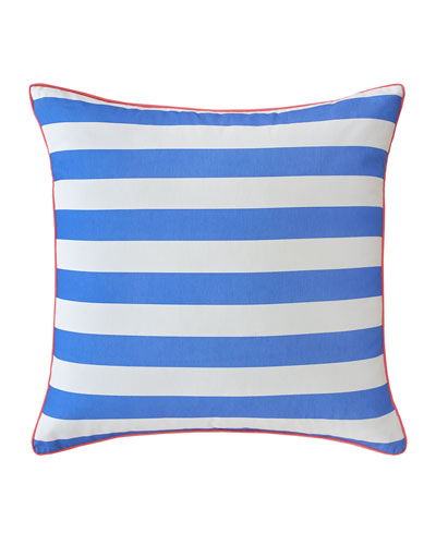 European Coastal Ikat Striped Sham