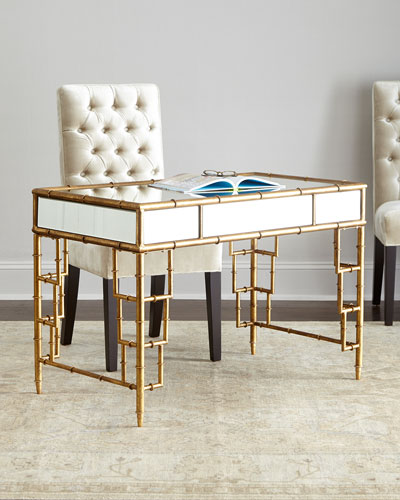 Neiman_marcus Lyle Mirrored Writing Desk