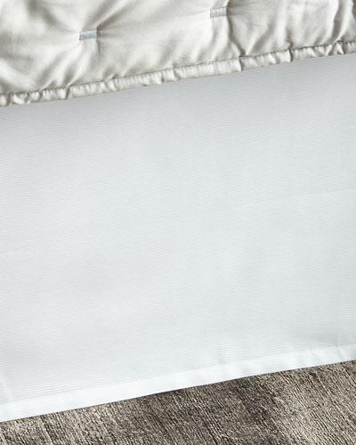 King Ribbed White Dust Skirt