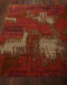 Brick Brushstroke Rug, 6' x 9'