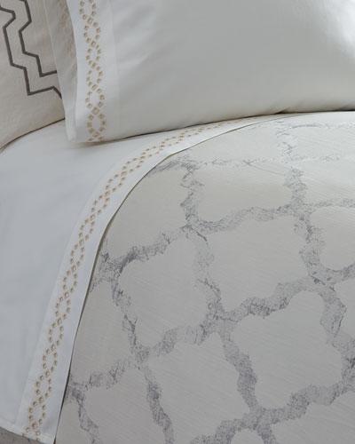 Two Queen Diamond Eyelet 400TC Pillowcases