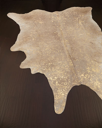 Golden Frost Hairhide Rug, 5' x 8'