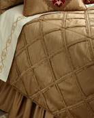 Austin Horn Collection King Diamond-Lattice Coverlet