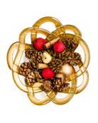 Large Golden Basket Bowl
