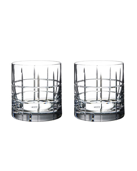 Orrefors Street Double-Old Fashioneds, Set of 2