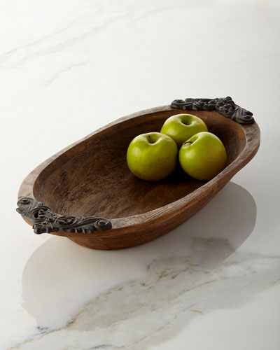 Antiquity Small Oval Bowl