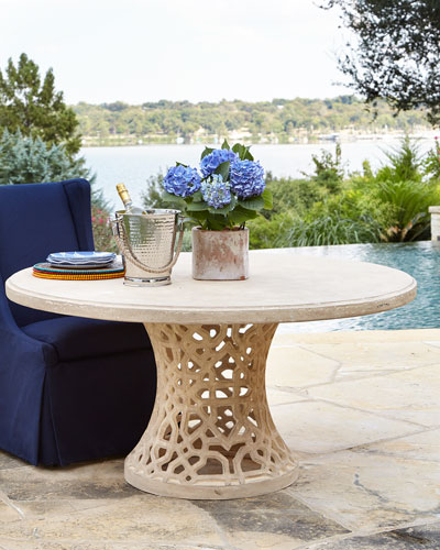 Lacey Outdoor Pedestal Table