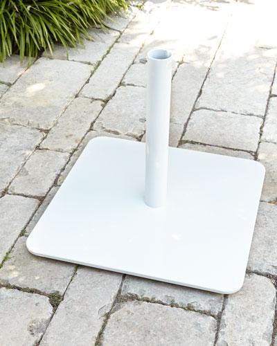 White Low-Profile Steel Base