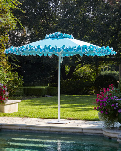 Paseo Aqua Outdoor Market Umbrella