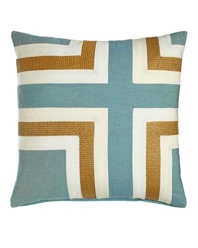 Celadon Regents Cross Outdoor Pillow